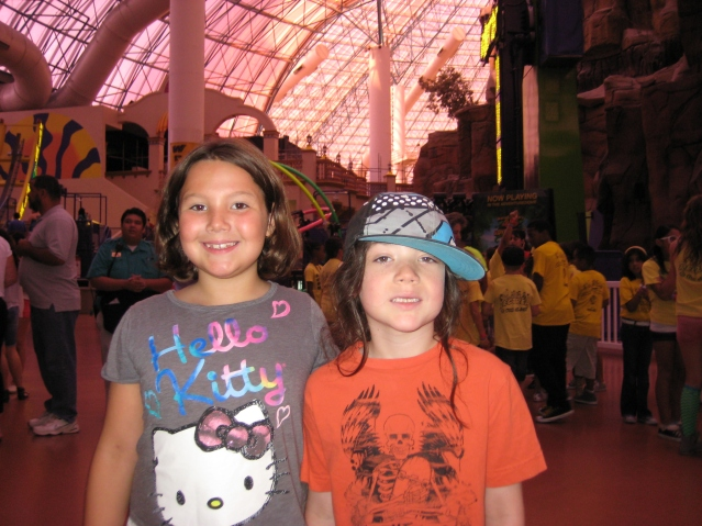 At the Adventuredome in Circus Circus